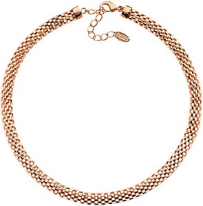 Read more about Finesse mesh collar necklace rose gold