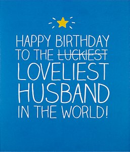Read more about Happy jackson loveliest husband birthday card