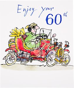 Read More About Woodmansterne Vintage Car 60th Birthday Card