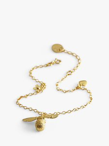 Read more about Alex monroe 22ct gold plated baby bee charm bracelet gold