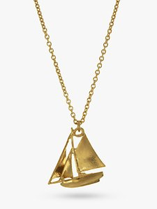 Read more about Alex monroe 22ct gold vermeil sailing boat necklace gold
