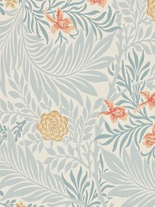 Read more about Morris co bird larkspur wallpaper