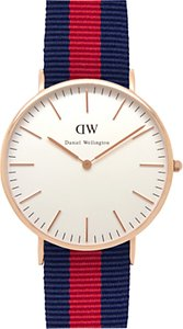 Read more about Daniel wellington 0101dw men s classic oxford rose gold nato strap watch navy red