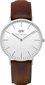Read more about Daniel wellington 0209dw men s classic bristol stainless steel leather strap watch tan white