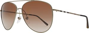 Read more about Burberry be3072 aviator sunglasses brown gold