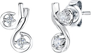 Read more about Jools by jenny brown cubic zirconia cherry stud earrings silver