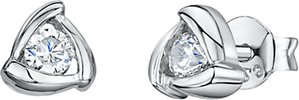 Read more about Jools by jenny brown cubic zirconia triangular stud earrings silver