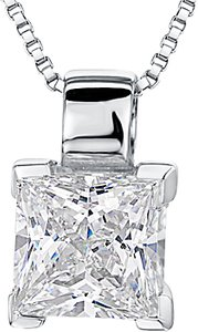 Read more about Jools by jenny brown small square cut cubic zirconia pendant necklace silver