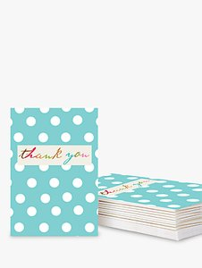 Read more about Caroline gardner spotted thank you notecards blue pack of 10