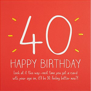 Read more about Happy jackson 40th happy birthday card