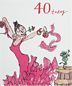 Read more about Woodmansterne dancing queen 40th birthday card