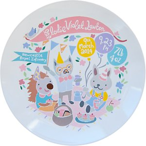 Read more about Ethel and co personalised woodland picnic decorative plate pink