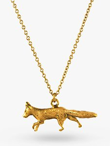 Read more about Alex monroe 22ct gold vermeil the chase prowling fox pendant gold