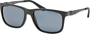 Read more about Polo ralph lauren ph4088 square polarised sunglasses matte black