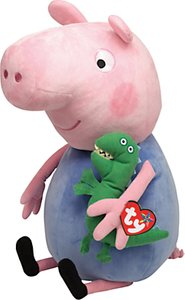 Read more about Ty peppa pig george pig soft toy 38cm