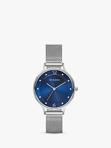 Read more about Skagen skw2307 women s anita stainless steel mesh bracelet strap watch silver blue