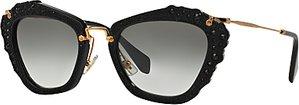 Read more about Miu miu mu04qs cat s eye sunglasses black