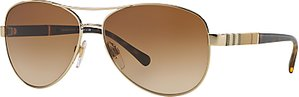 Read more about Burberry be3080 pilot sunglasses gold brown