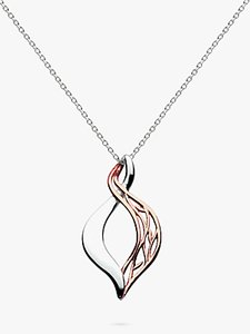 Read more about Kit heath rose gold vermeil grace pendant necklace rose gold silver