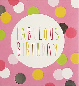 Read more about Caroline gardner pink spots birthday card