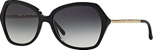 Read more about Burberry be4193 oval framed polarised sunglasses black