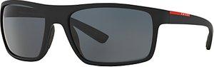 Read more about Prada linea rossa ps02qs rectangular polarised sunglasses black
