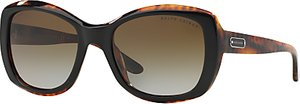 Read more about Ralph lauren rl8132 square framed polarised sunglasses black brown