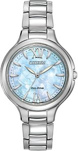 Read more about Citizen ep5990-50d women s silhouette stainless steel bracelet strap watch silver blue
