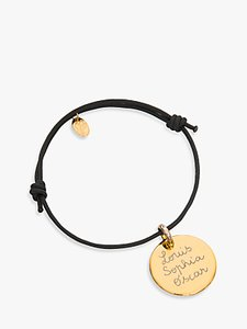 Read more about Merci maman gold plated personalised disc bracelet