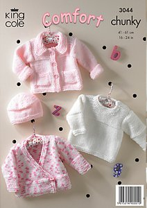 Read more about King cole baby jumpers knitting pattern 3044