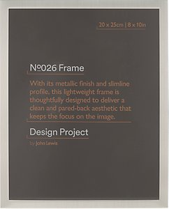 Read more about Design project by john lewis no 026 pewter finish photo frame 8 x 10