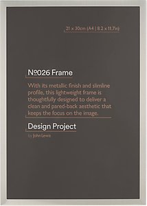 Read more about Design project by john lewis no 026 pewter finish photo frame a4 21 x 30cm 8 2 x 11 7