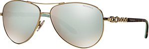 Read more about Tiffany co tf3049b aviator sunglasses gold silver