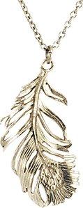 Read more about Alex monroe drop feather pendant necklace silver