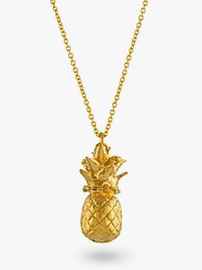 Read more about Alex monroe long pineapple pendant necklace gold