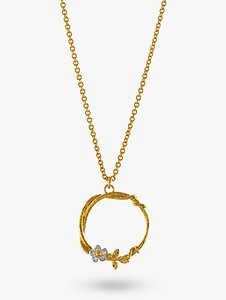 Read more about Alex monroe gold vermeil branch and flower pendant necklace gold silver