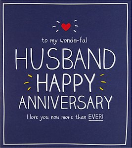 Read more about Happy jackson husband happy anniversary card