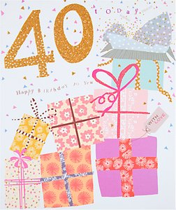 Read more about Woodmansterne parcels 40th birthday card