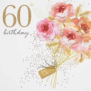 Read More About Portfolio Bouquet 60th Birthday Card