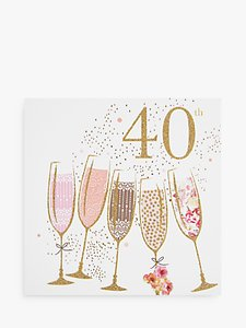 Read more about Portfolio champagne 40th birthday card