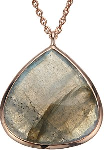 Read more about John lewis gemstones rose gold plated labradorite teardrop pendant necklace rose gold