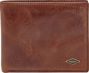 Read more about Fossil ryan leather bifold wallet brown