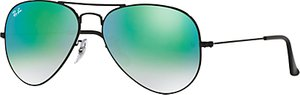 Read more about Ray-ban rb3025 original aviator sunglasses black mirror green