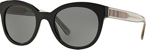 Read more about Burberry be4210 check oval sunglasses black