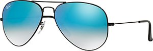 Read more about Ray-ban rb3025 original aviator sunglasses black mirror turquoise