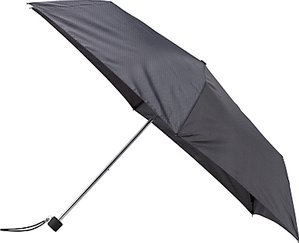 Read more about John lewis super slim houndstooth print umbrella black grey