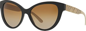 Read more about Burberry br4220 polarised gradient cat s eye sunglasses black