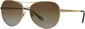 Read more about Tiffany co tf3051b polarised aviator sunglasses gold brown