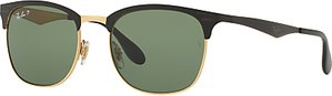 Read more about Ray-ban rb3538 half frame polarised square sunglasses black