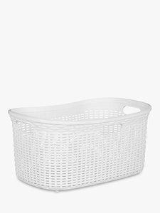 Read more about John lewis rattan effect storage basket grey 40l